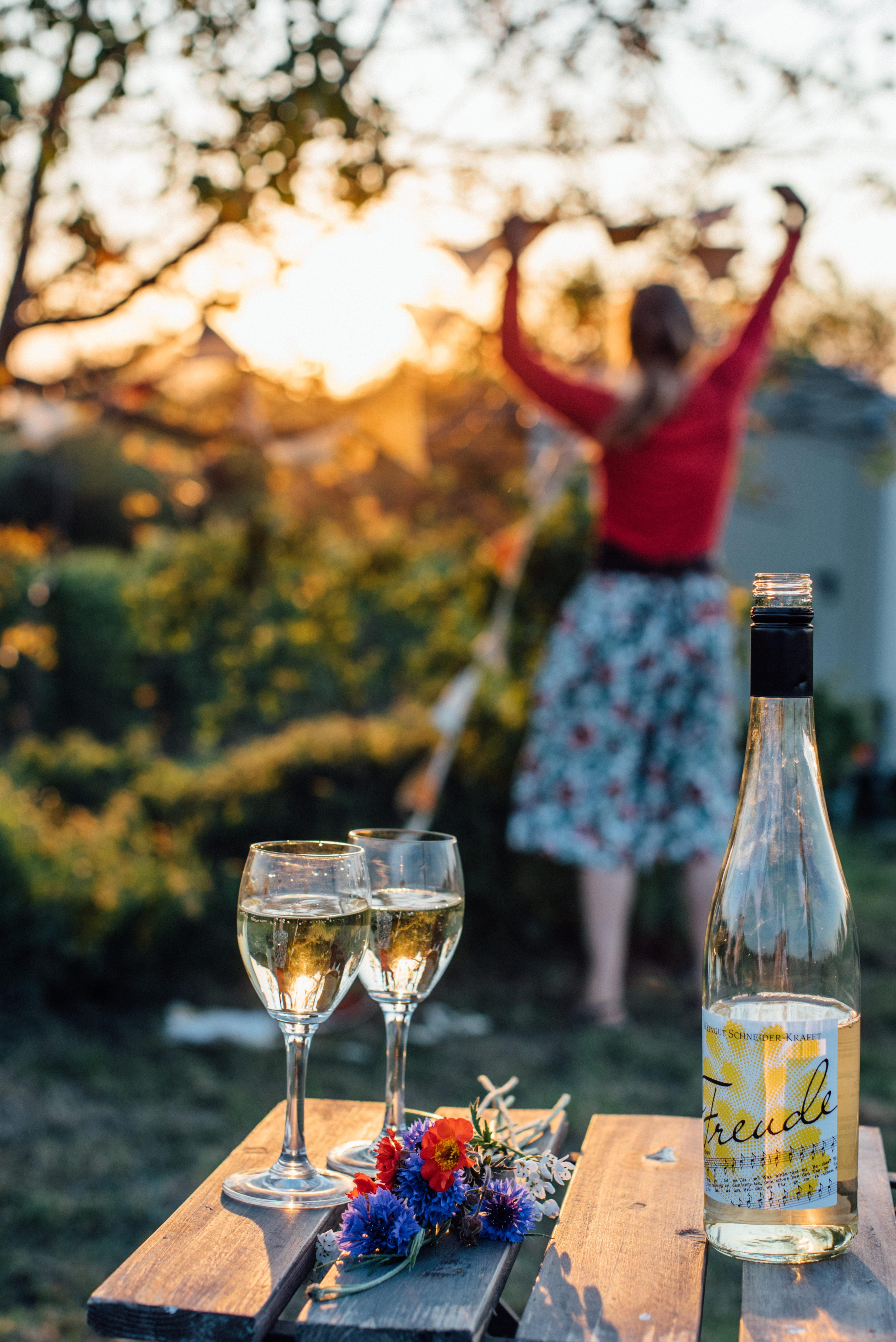 Businessfotos Markgräflerland Weinbau Produktfotos Wildling Blumen Wein