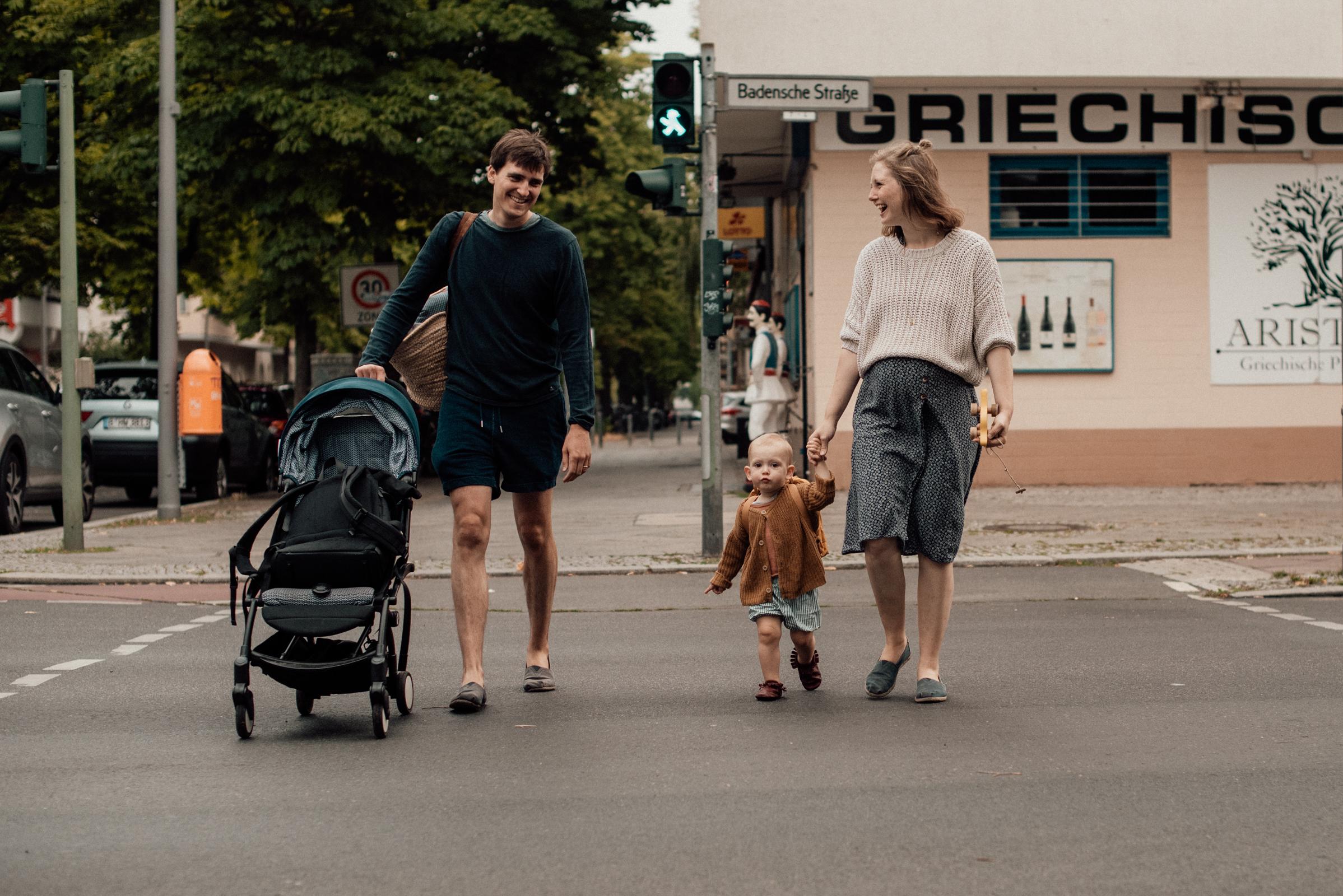Familie beim spaziergang, Fotograf in Basel