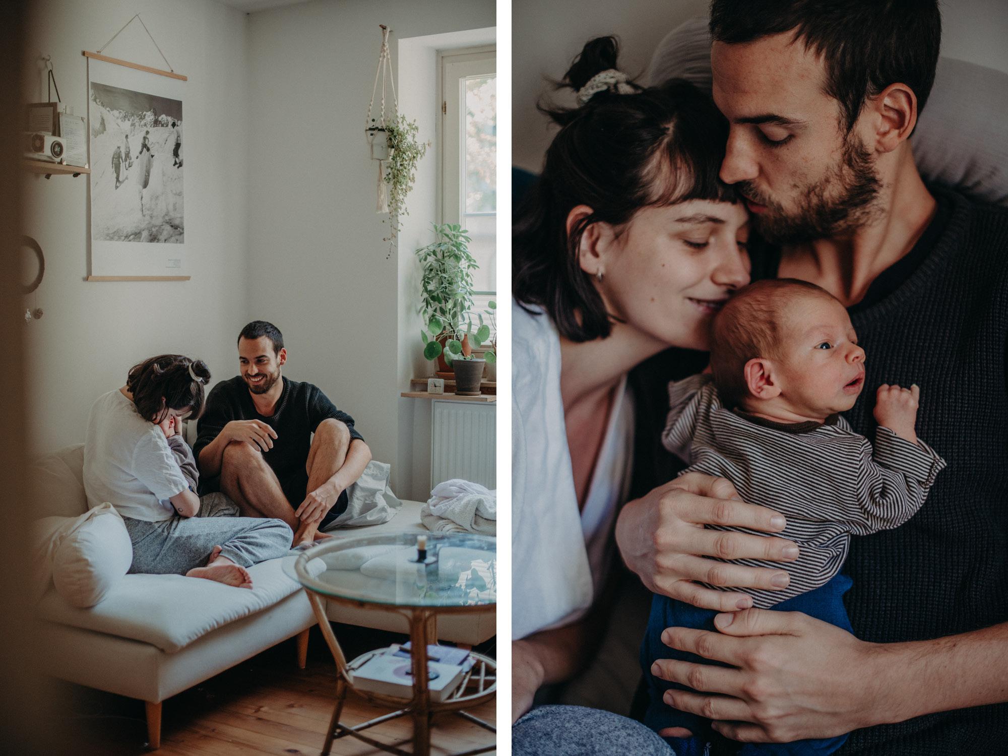 Familie mit Neugeborenen, Blogpost Babyfotoshooting selber machen, Fotografin Freiburg