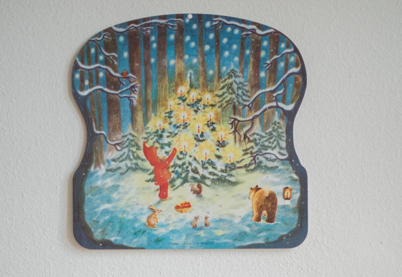 Waldorf Adventskalender, Weihnachten im Walde, Zeit statt Geschenke schenken für Kinder