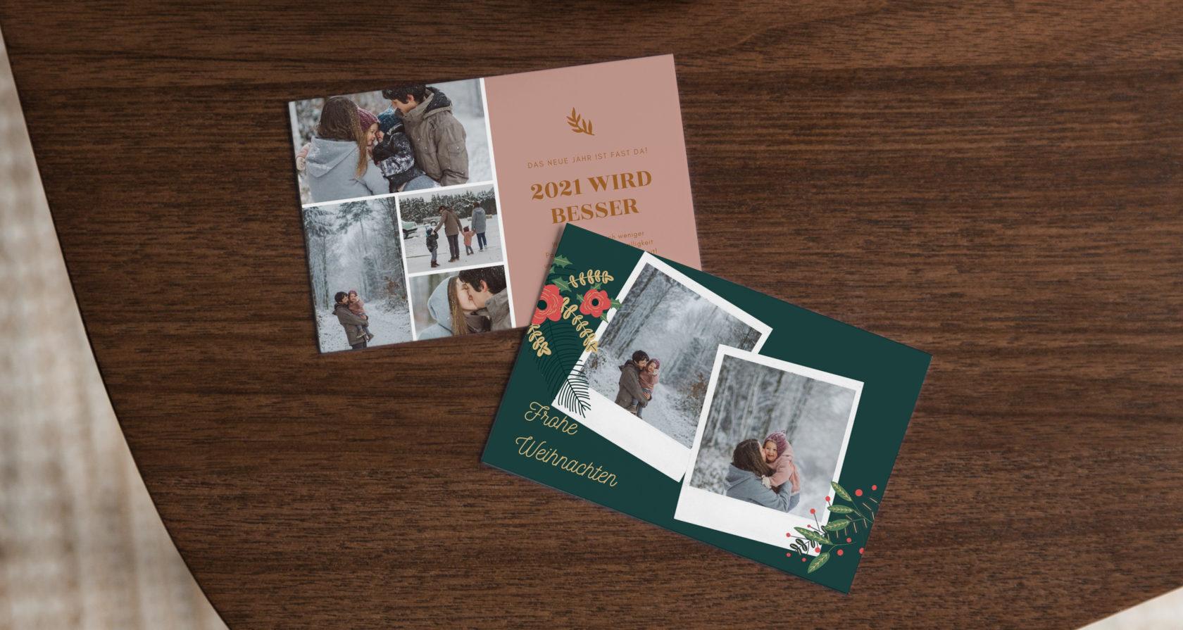 Weihnachtskarten selbst gestalten und Zuhause ausdrucken