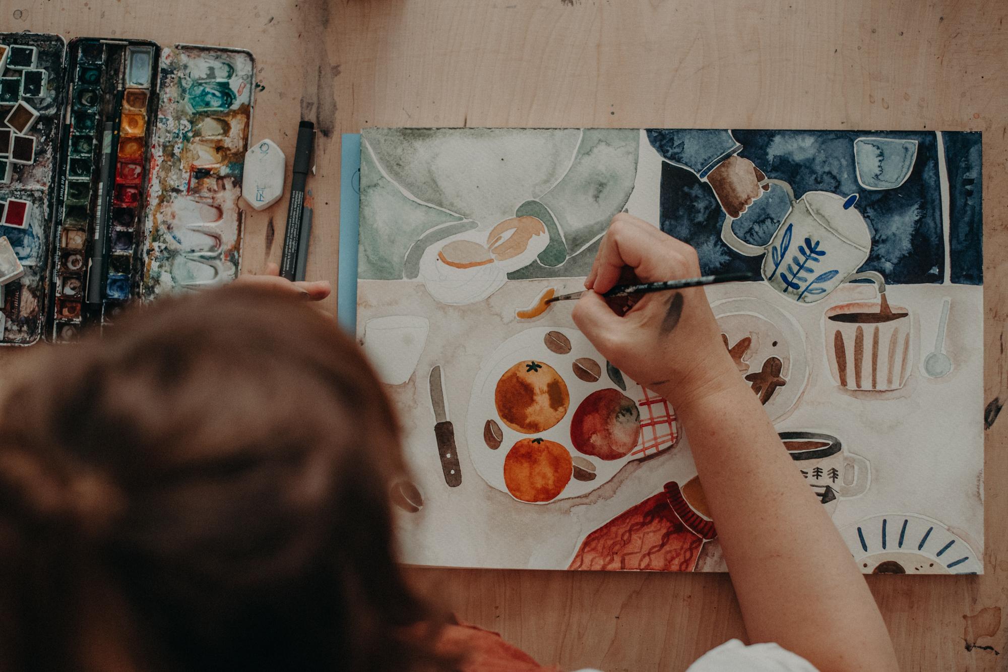 unternehmen fotoshooting freiburg von Illustratorin Gretas Schwester